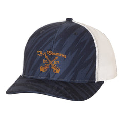 Always On The Road Trucker Hat - Streak/Navy