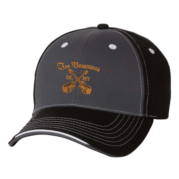 Always On The Road Tri-Color Hat - Charcoal/Black