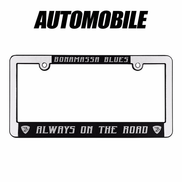 Always on the Road Silver License Plate Frame - Auto
