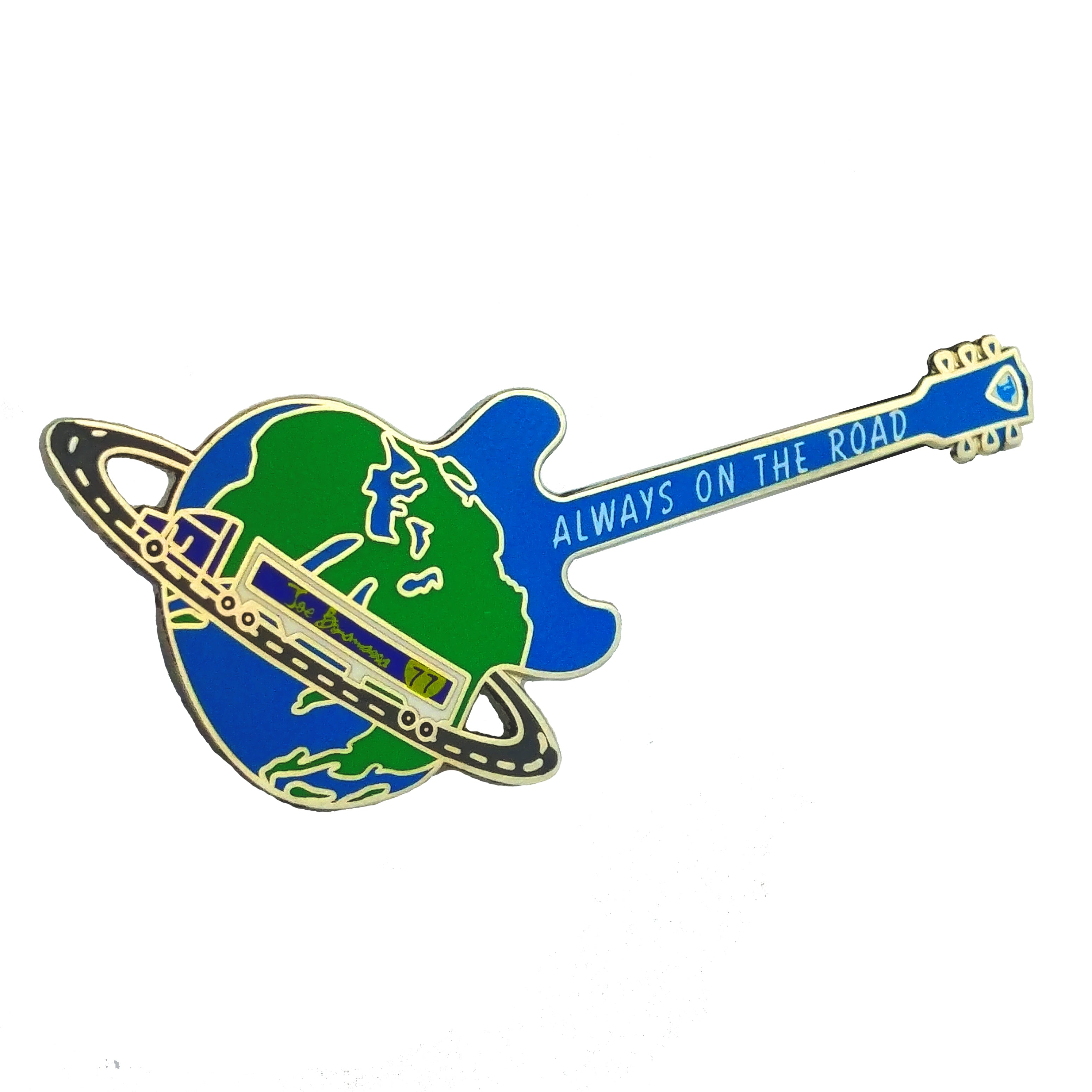 Always on the Road Guitar Pin