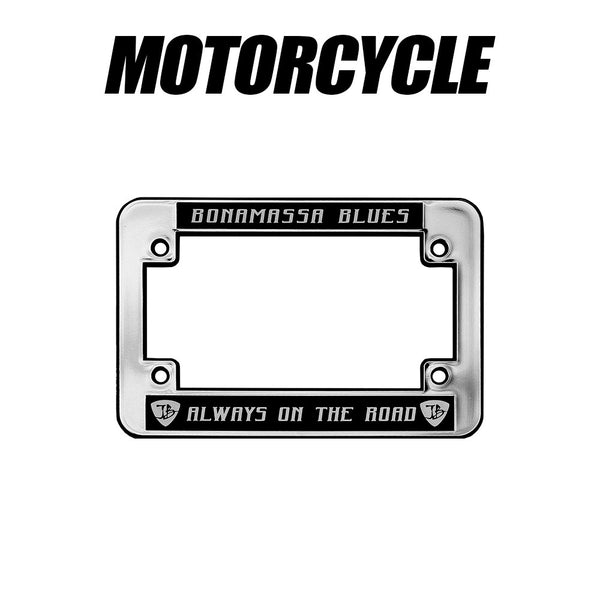 Always on the Road Silver License Plate Frame - Motorcycle