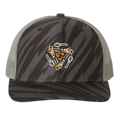 Always On The Road Flying V Trucker Hat - Streak/Black