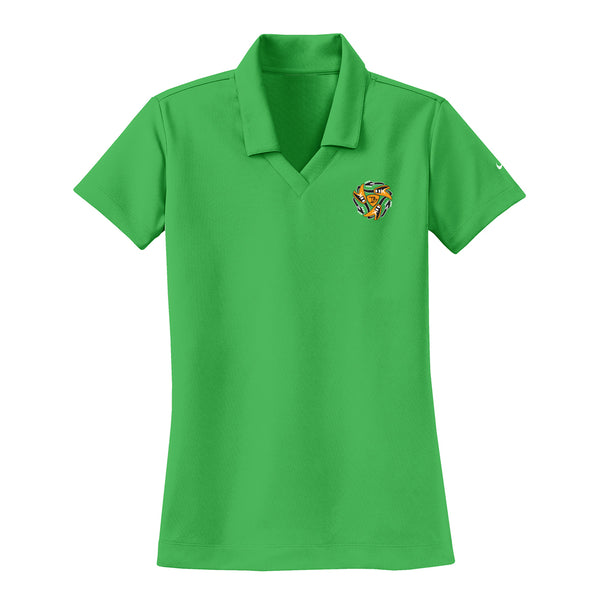 Always on the Road Flying V Nike Dri-FIT Micro Pique Polo (Women) - Lucky Green