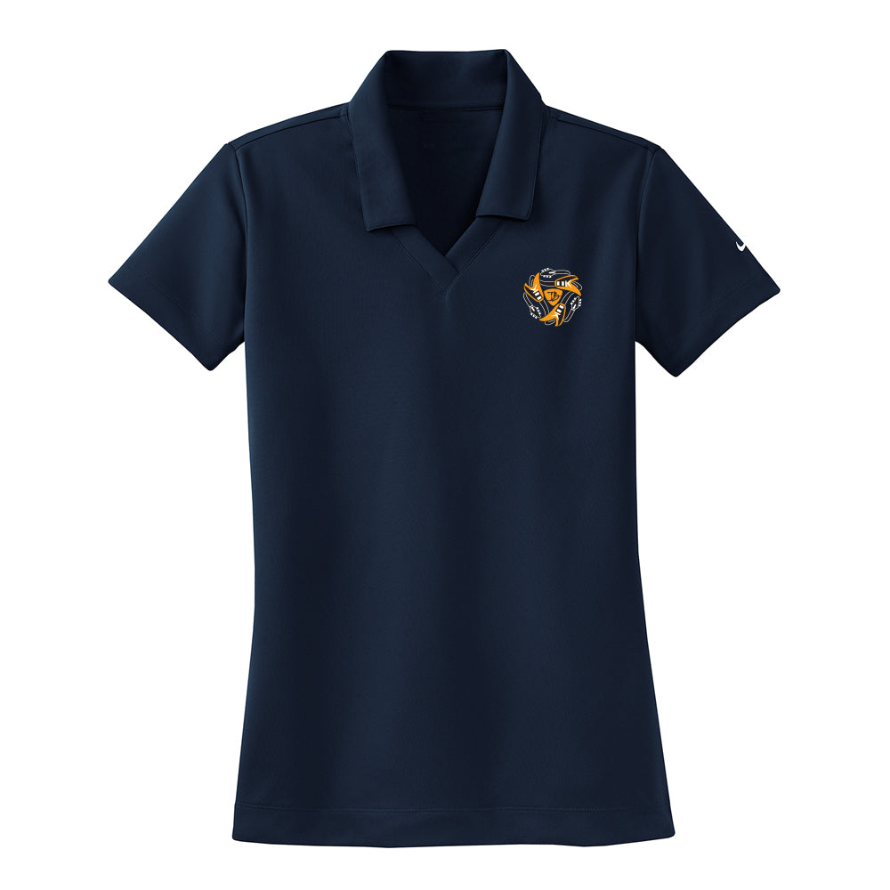 Always on the Road Flying V Nike Dri-FIT Micro Pique Polo (Women) - Navy