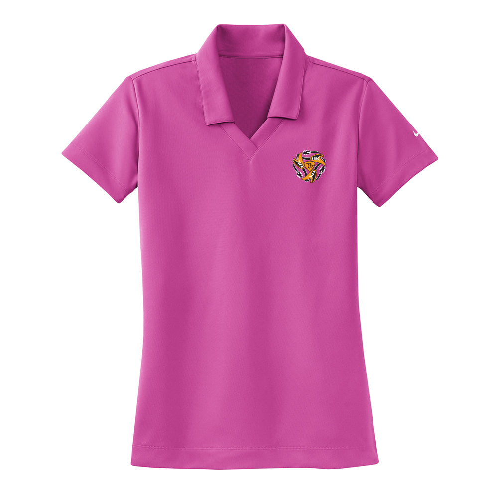 Always on the Road Flying V Nike Dri-FIT Micro Pique Polo (Women) - Fusion Pink