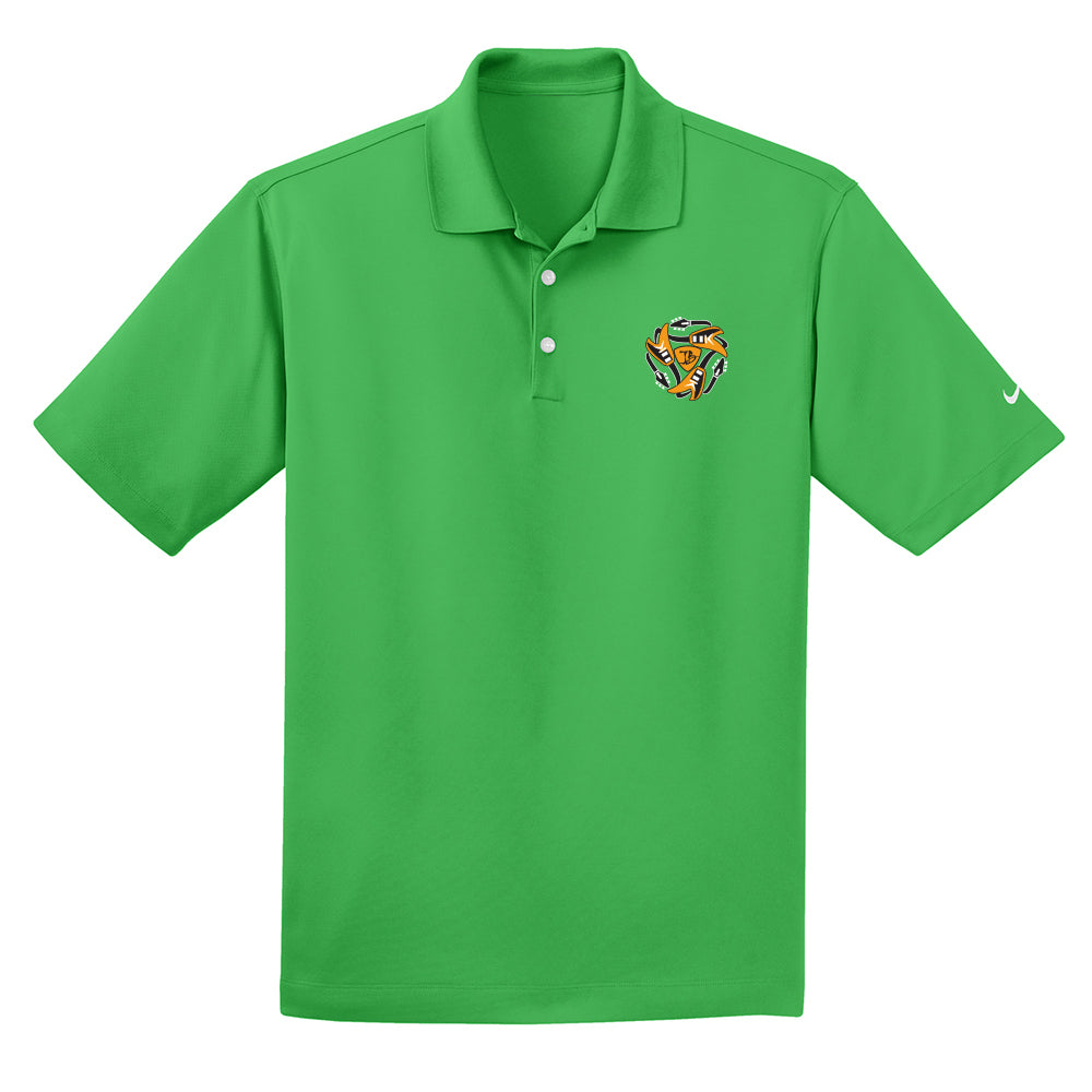 Always on the Road Flying V Nike Dri-FIT Micro Pique Polo (Men) - Lucky Green