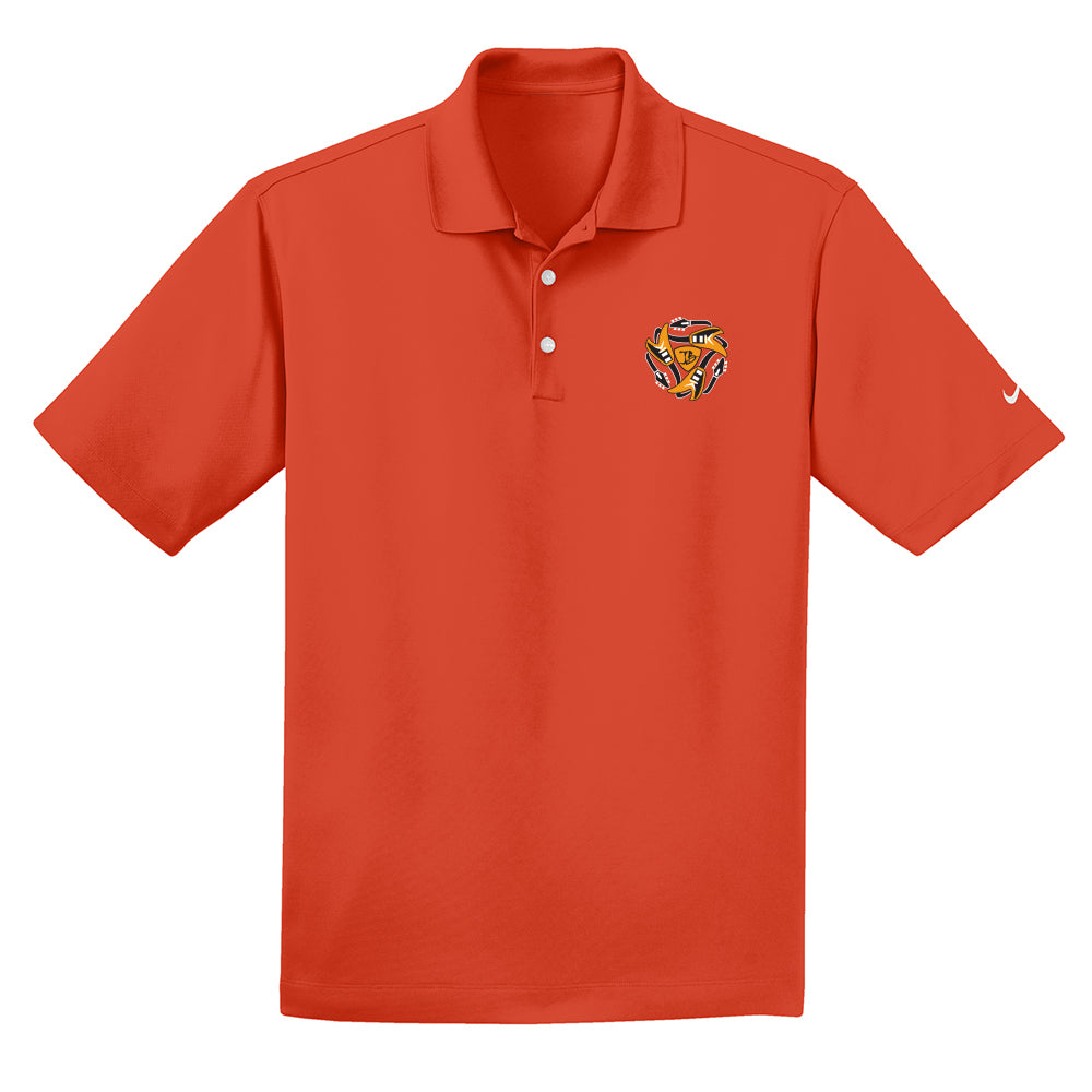 Always on the Road Flying V Nike Dri-FIT Micro Pique Polo (Men) - Team Orange