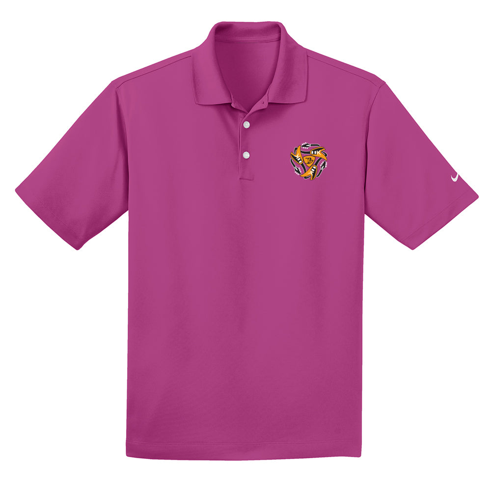 Always on the Road Flying V Nike Dri-FIT Micro Pique Polo (Men) - Fusion Pink