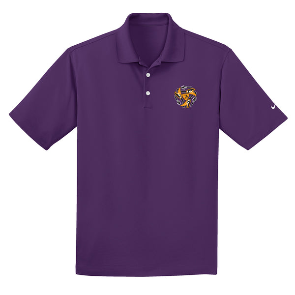 Always on the Road Flying V Nike Dri-FIT Micro Pique Polo (Men) - Night Purple