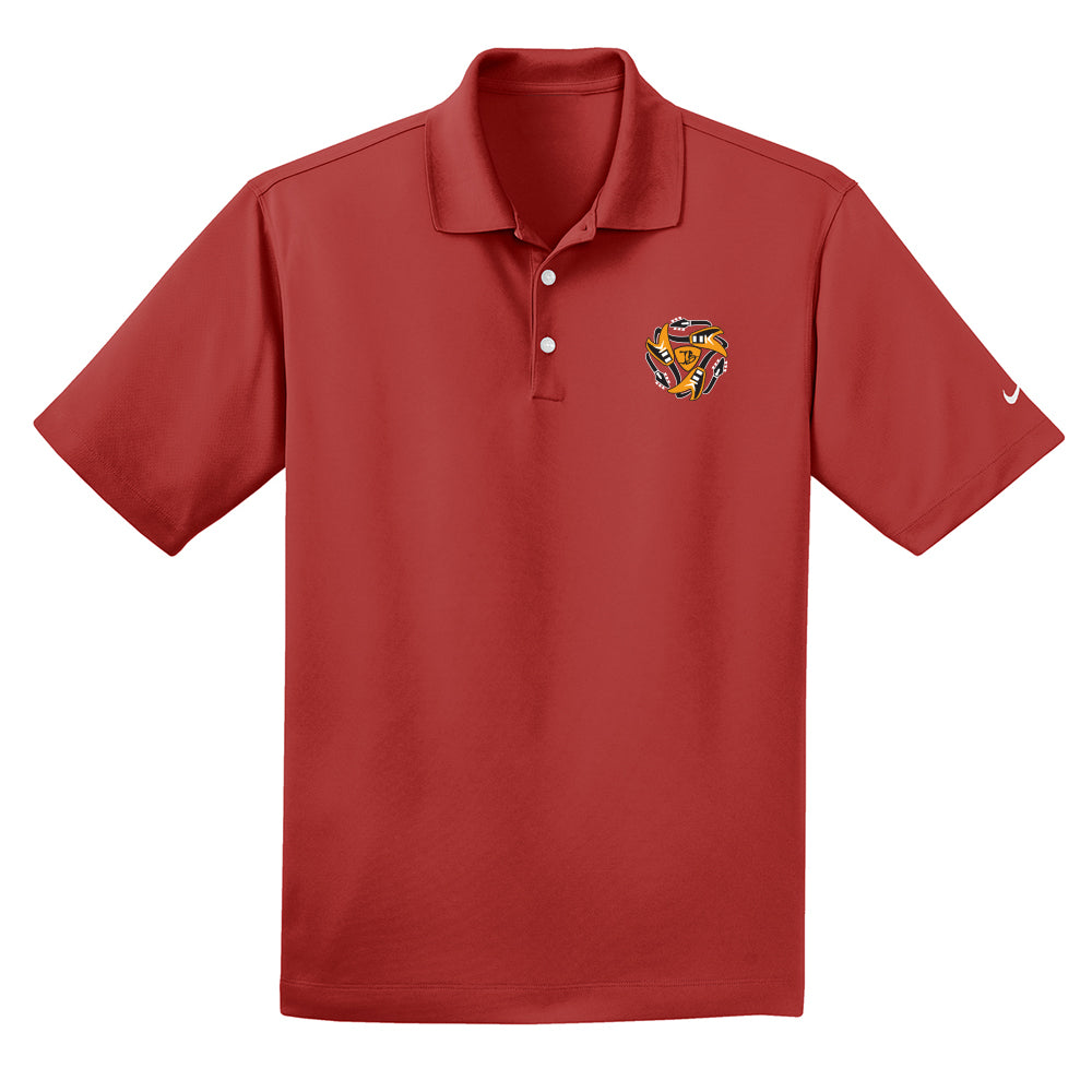 Always on the Road Flying V Nike Dri-FIT Micro Pique Polo (Men) - Varsity Red