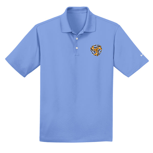 Always on the Road Flying V Nike Dri-FIT Micro Pique Polo (Men) - Valor Blue