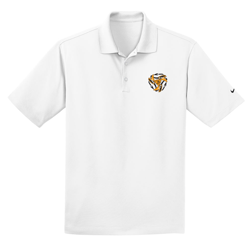 Always on the Road Flying V Nike Dri-FIT Micro Pique Polo (Men) - White