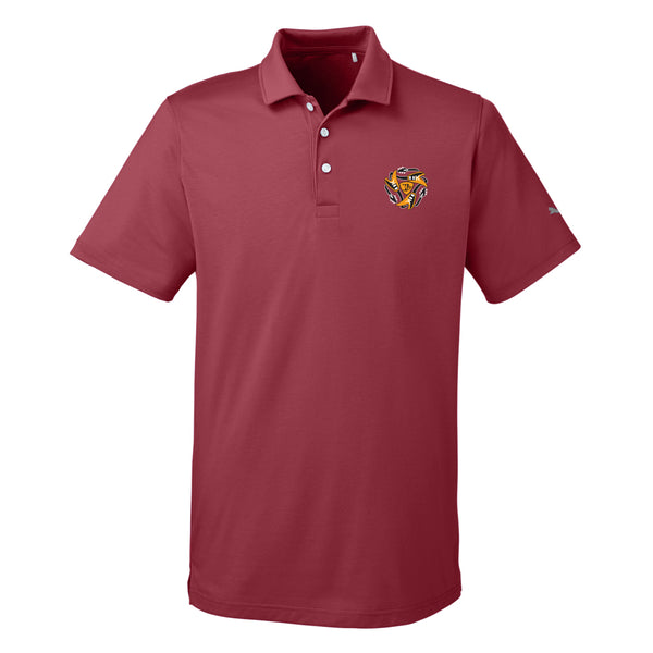 Always on the Road Flying V Puma Polo (Men) - Cabernet
