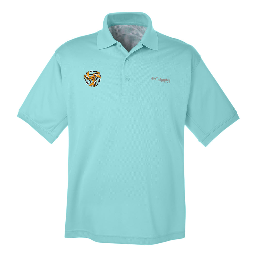 Always on the Road Flying V Columbia Polo (Men) - Gulf Stream