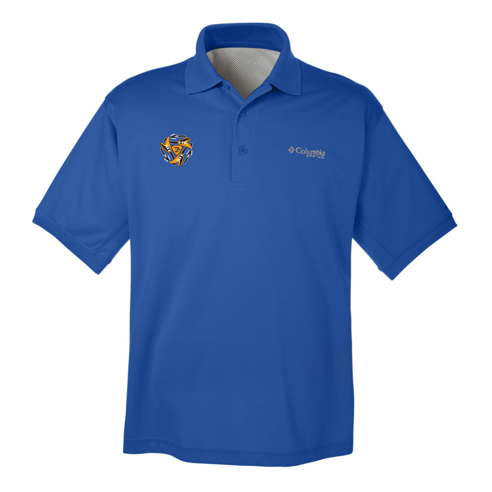 Always on the Road Flying V Columbia Polo (Men) - Vivid Blue