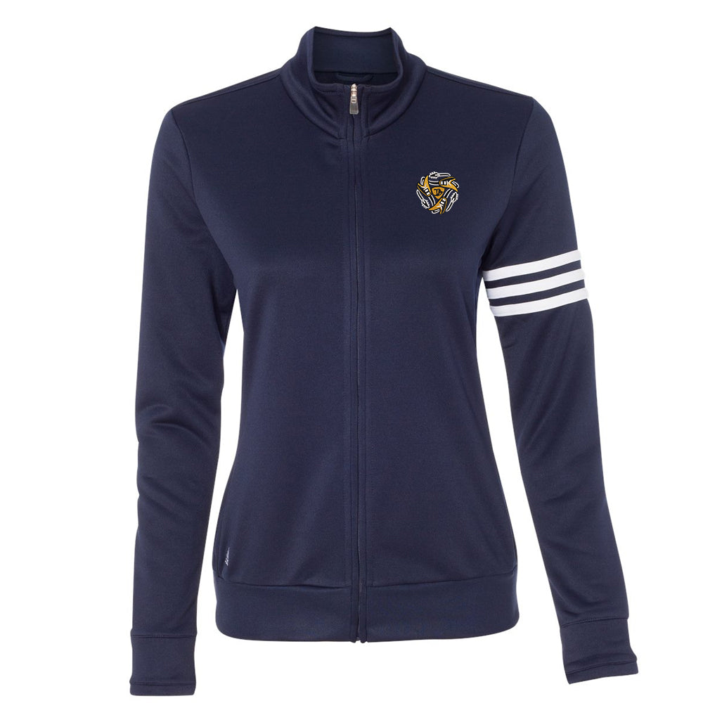 Always on the Road Flying V Adidas 3-Stripes French Terry Full-Zip Jacket (Women) - Navy