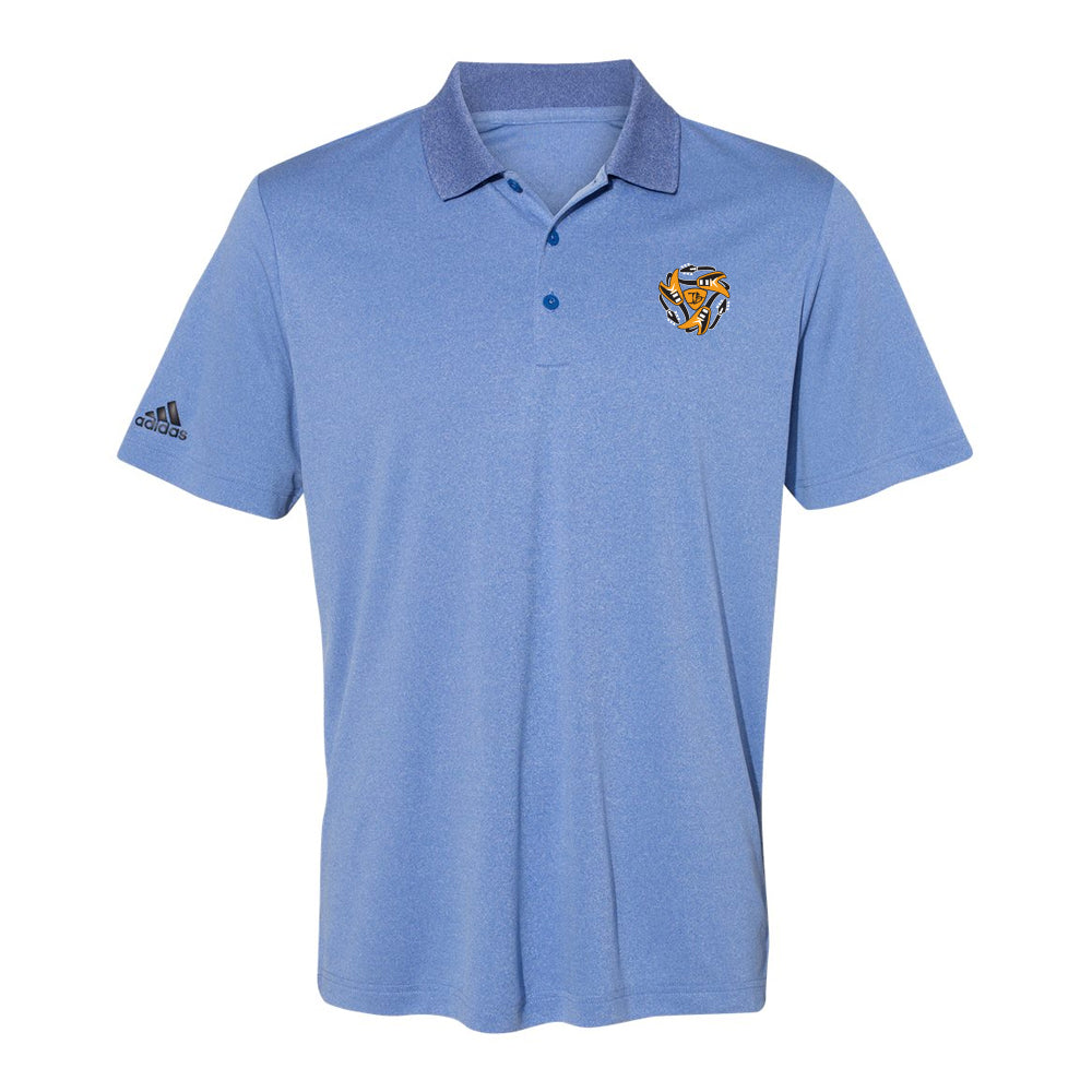 Always on the Road Flying V Adidas Sport Polo (Men) - Royal Heather