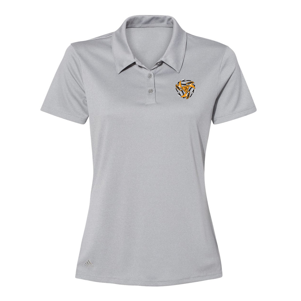 Always on the Road Flying V Adidas Sport Polo (Women) - Grey