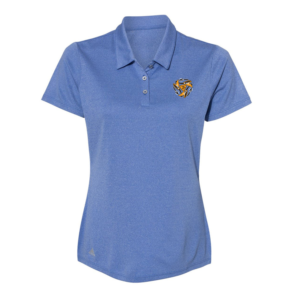 Always on the Road Flying V Adidas Sport Polo (Women) - Royal Heather