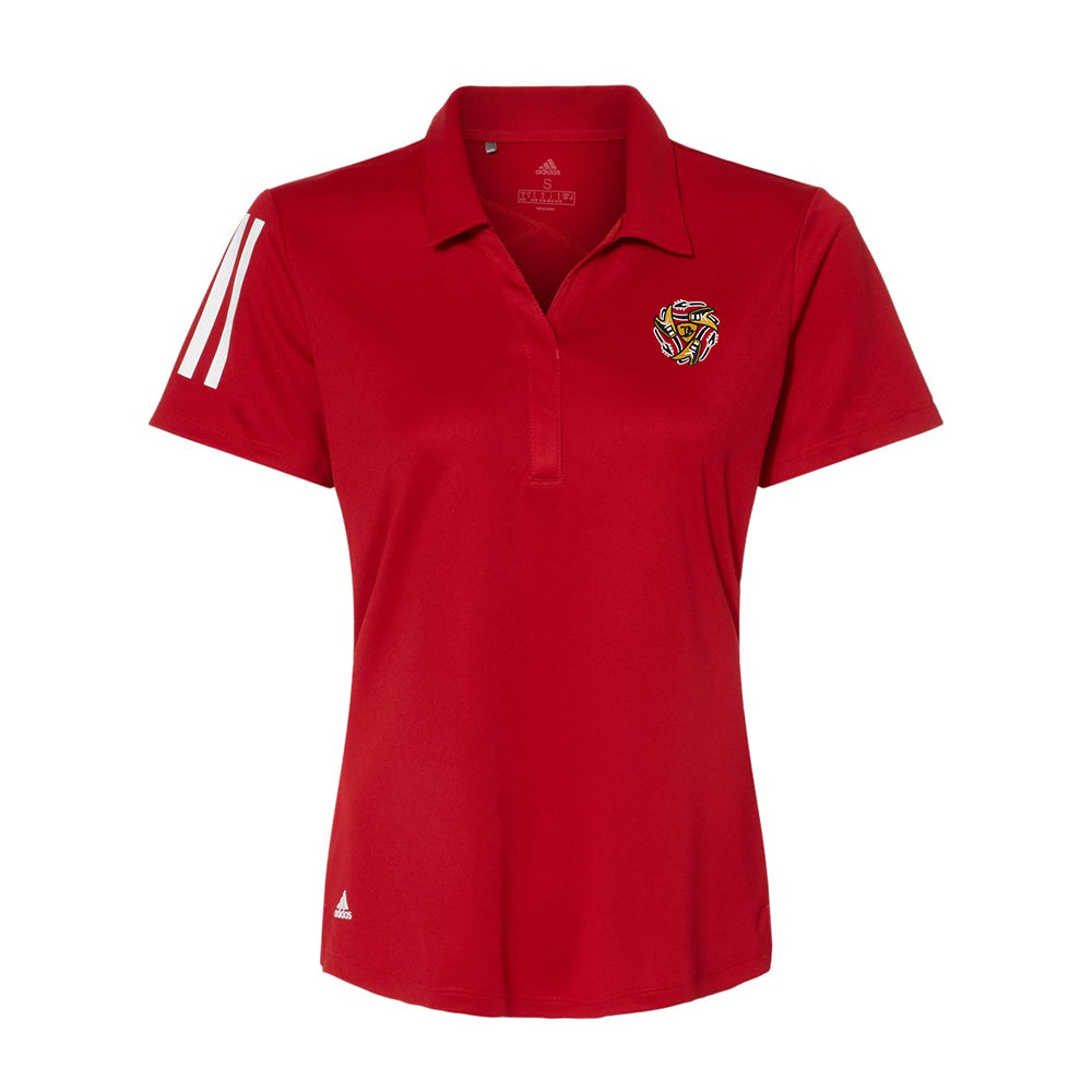 Always on the Road Flying V Adidas Floating 3 Stripes Sport Shirt (Women) - Red