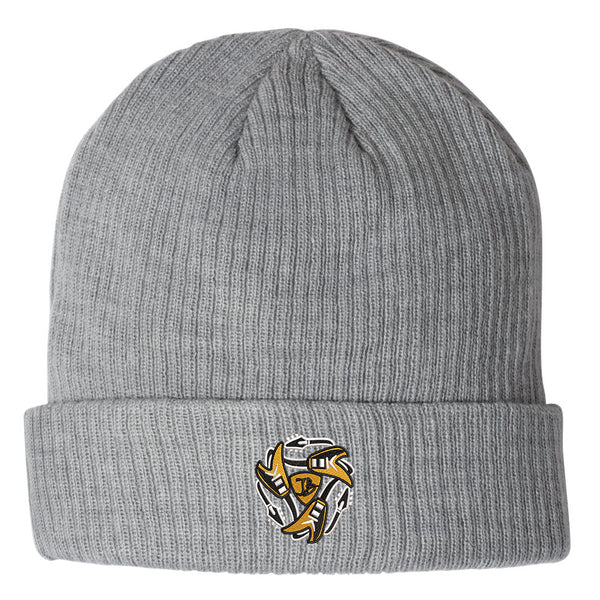Always on the Road Flying V Champion Ribbed Beanie - Grey
