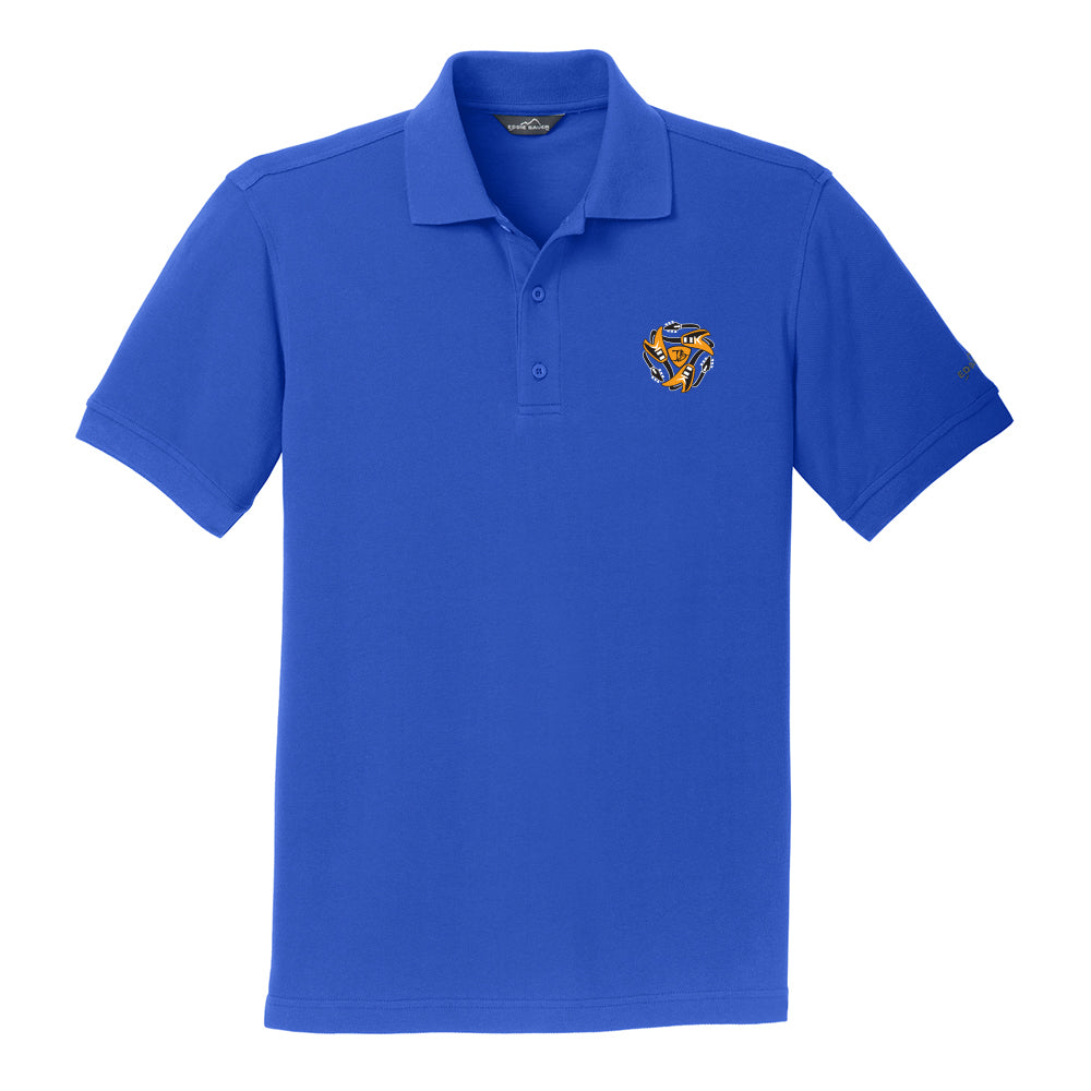 Always on the Road Flying V Eddie Bauer Pique Polo (Men) - Blue