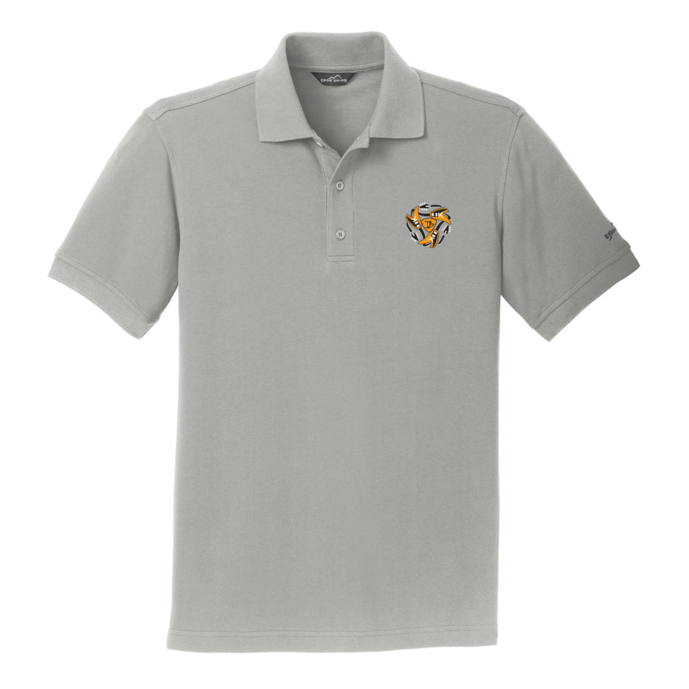 Always on the Road Flying V Eddie Bauer Pique Polo (Men) - Chrome