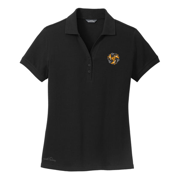 Always on the Road Flying V Eddie Bauer Pique Polo (Women) - Black