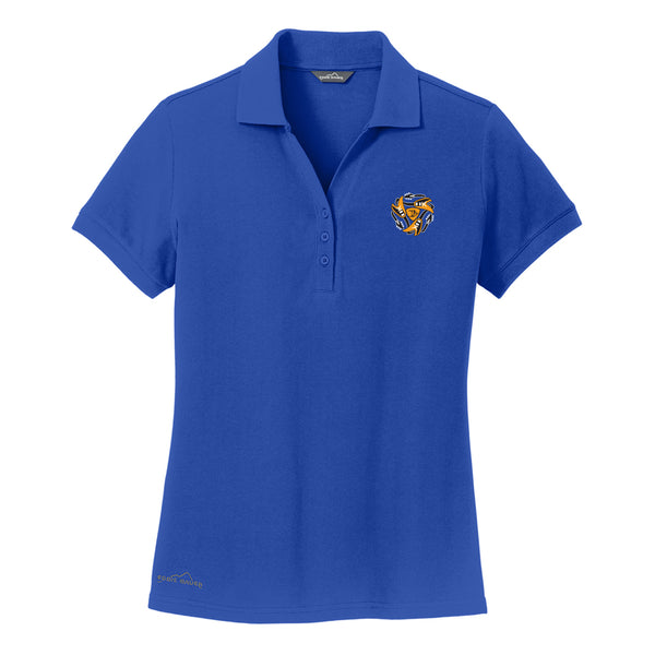 Always on the Road Flying V Eddie Bauer Pique Polo (Women) - Blue