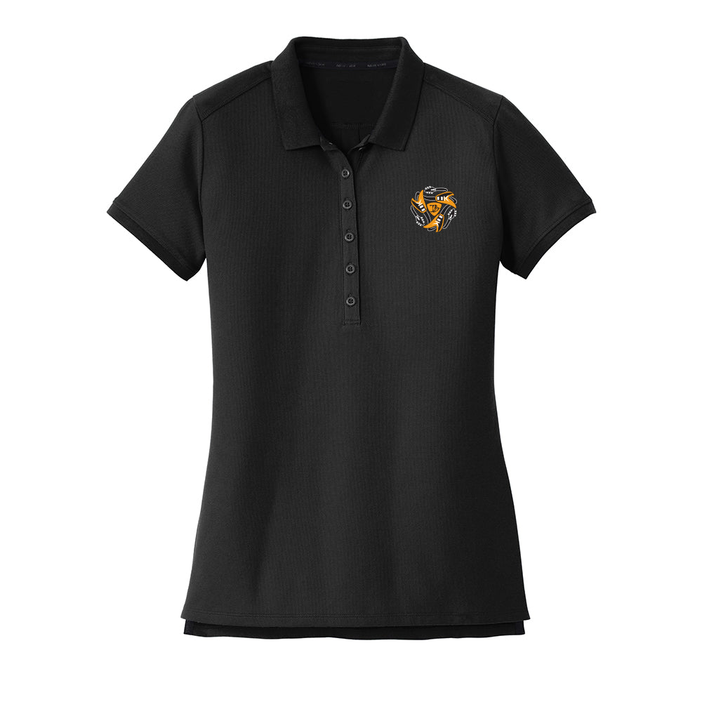 Always on the Road Flying V New Era Polo (Women) - Black