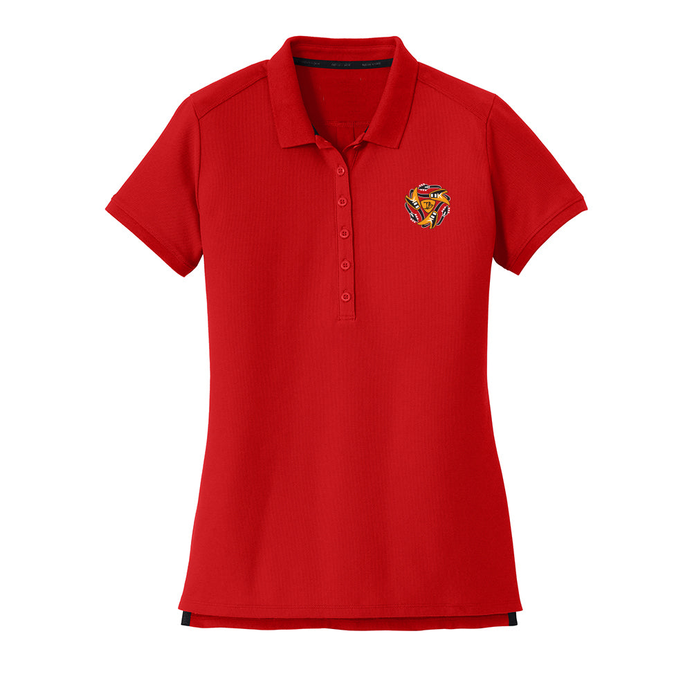 Always on the Road Flying V New Era Polo (Women) - Scarlet
