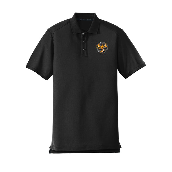 Always on the Road Flying V New Era Polo (Men) - Black