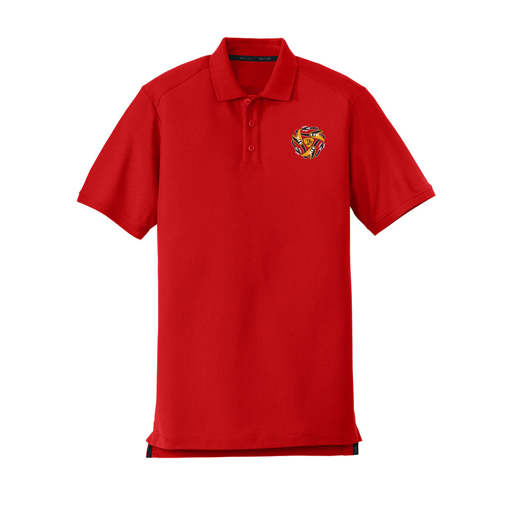 Always on the Road Flying V New Era Polo (Men) - Scarlet