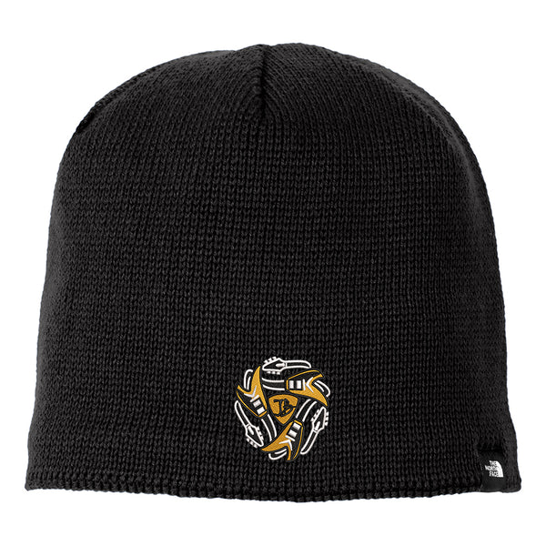 Always on the Road Flying V The North Face Mountain Beanie - Black