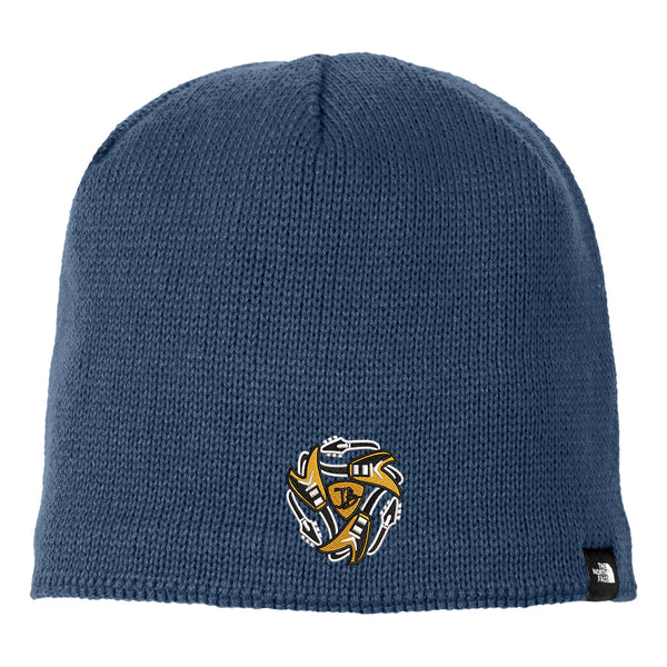 Always on the Road Flying V The North Face Mountain Beanie - Bluewing