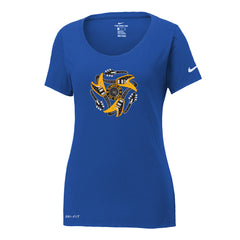Always on the Road Flying V Nike Dri-FIT Scoop Neck T-Shirt (Women) - Blue