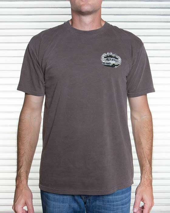 classic car t shirt for men in chocolate