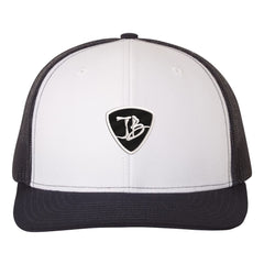 JB Pick Snapback Trucker Hat - White/Navy