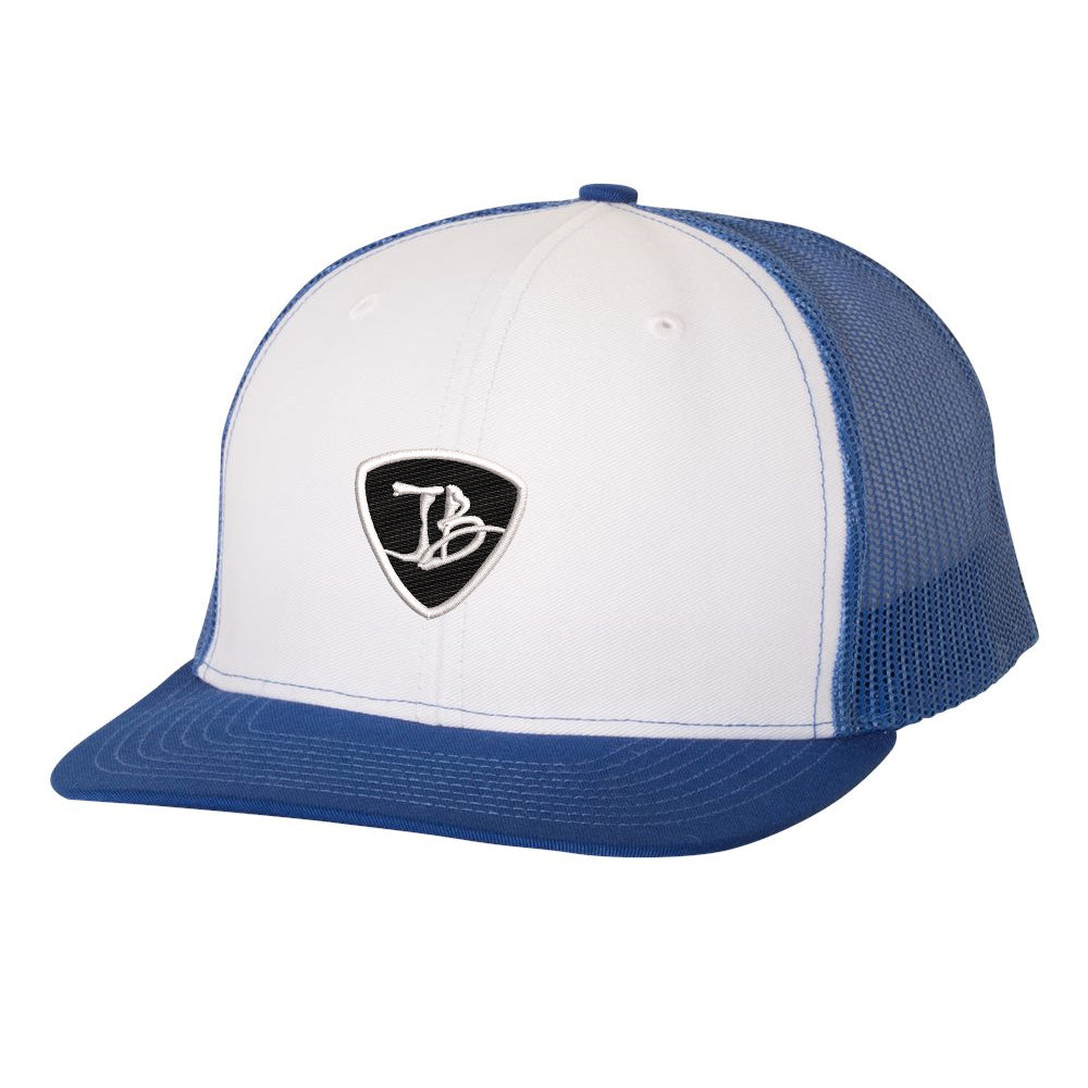 JB Pick Snapback Trucker Hat - White/Royal