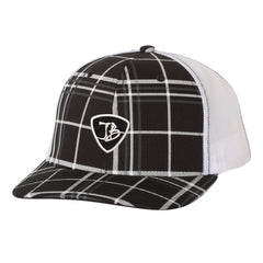 JB Pick Trucker Hat - Plaid/Black
