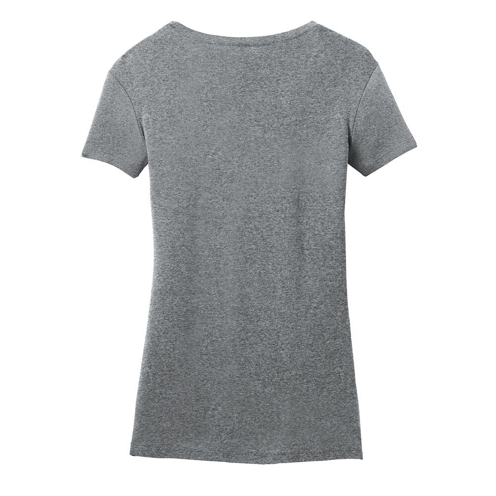 Bona Who? License Plate V-Neck (Women) - Heather Grey
