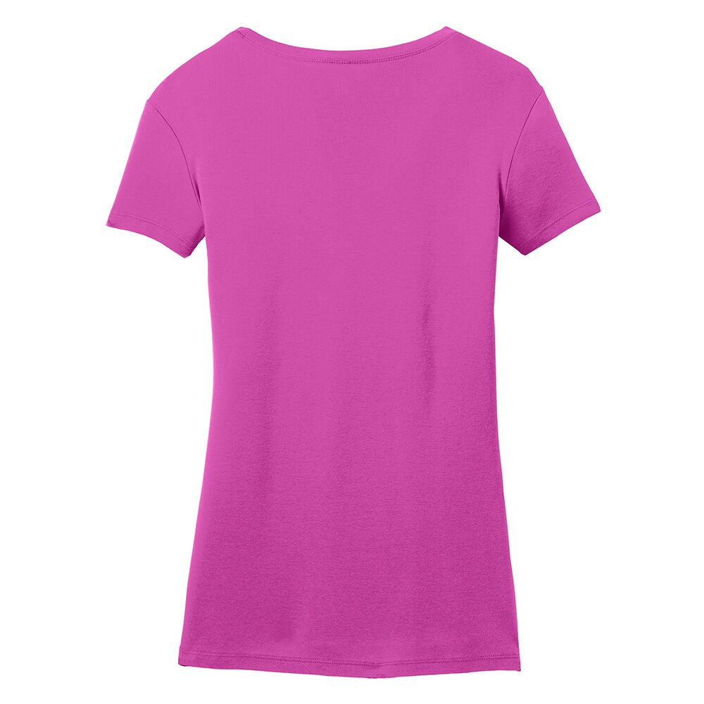 Bona Who? License Plate V-Neck (Women) - Pink Raspberry
