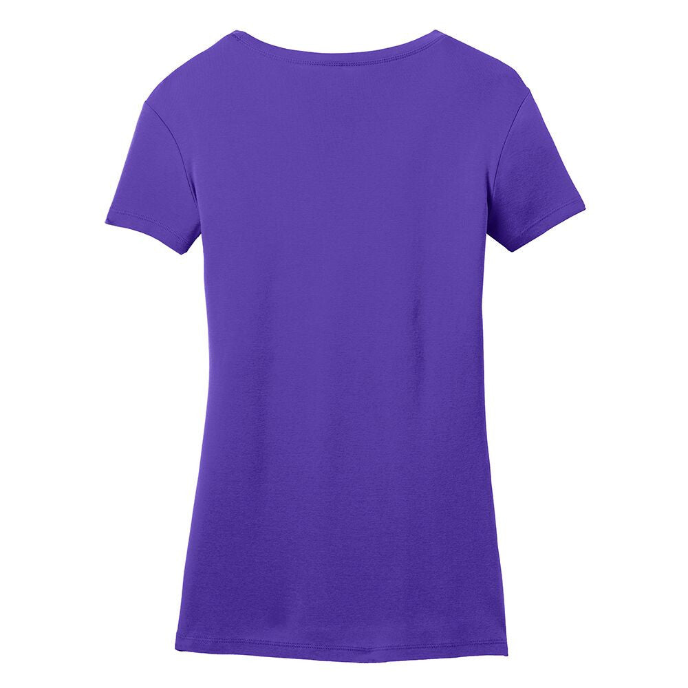 Bona Who? License Plate V-Neck (Women) - Purple