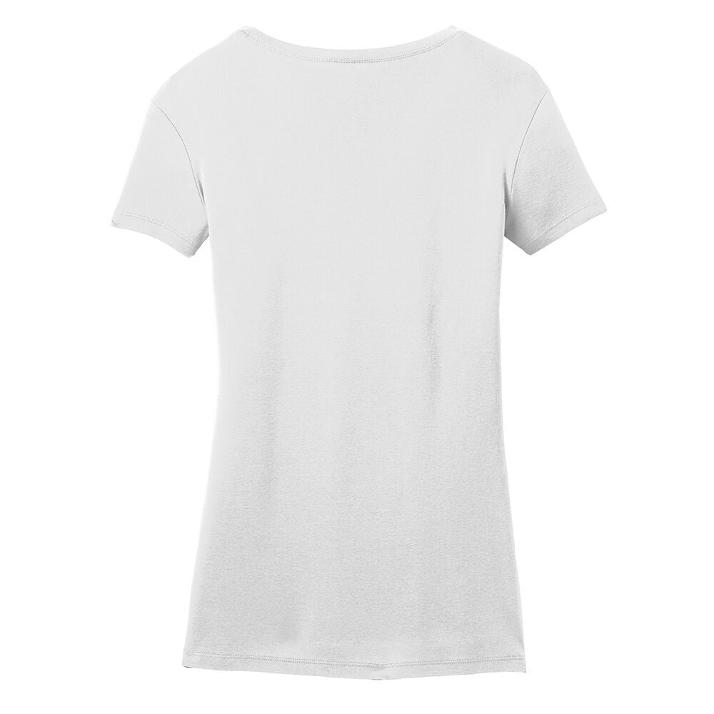 Blues Rock V-Neck (Women) - White