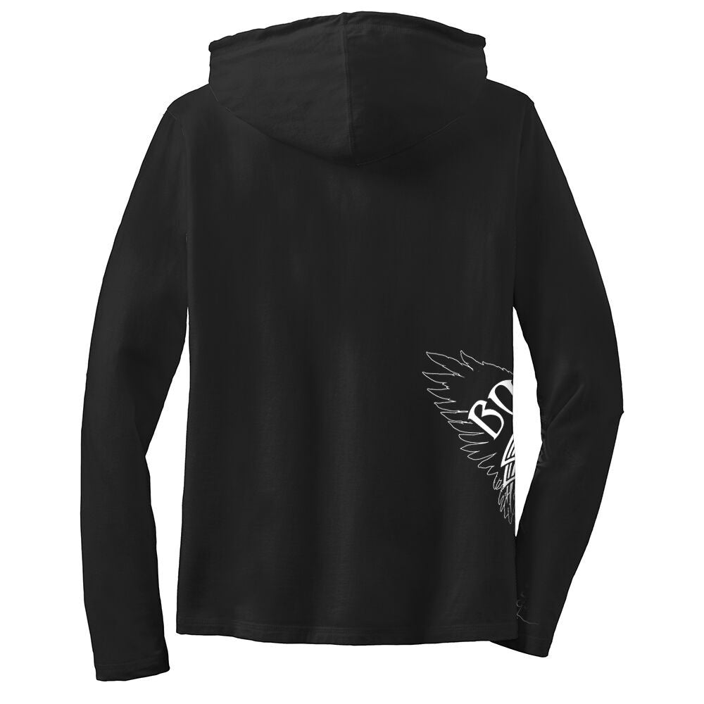 Blue and Evil Hooded Long Sleeve (Women)