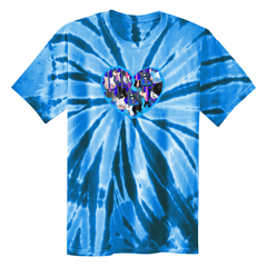 Blue Heart of Guitars Tie Dye T-Shirt (Unisex) - Royal