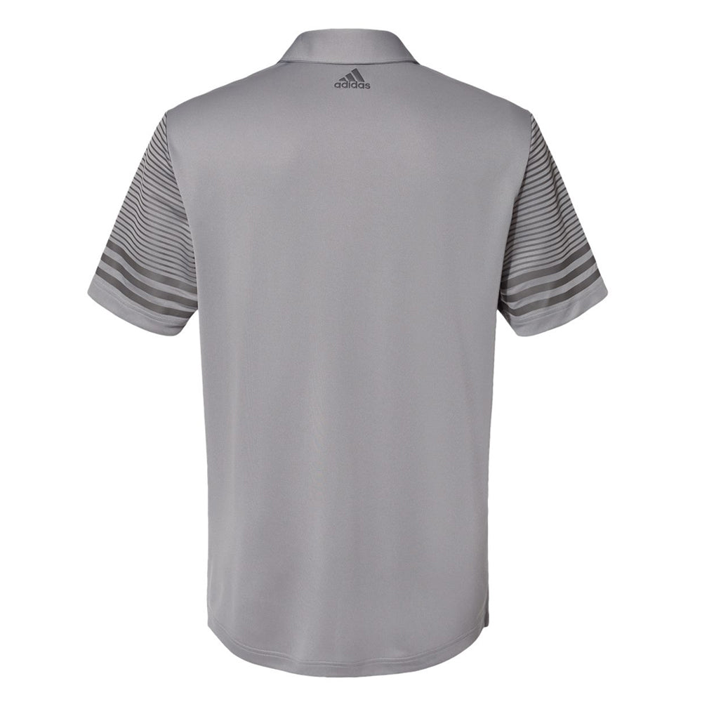 Blues Bogey Adidas Striped Sleeve Polo Shirt (Men) - Grey