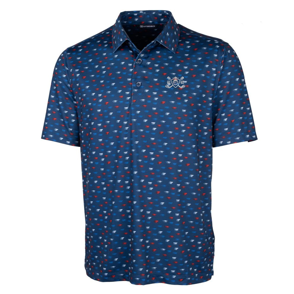 Blues Bogey Cutter & Buck Daub Polo (Men) - Indigo