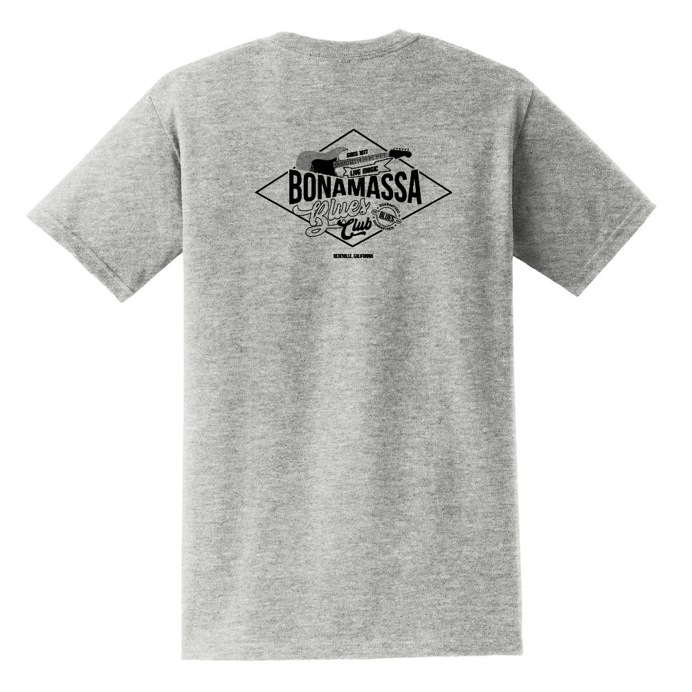 Bonamassa Blues Club Pocket T-Shirt (Unisex) - Grey/Black