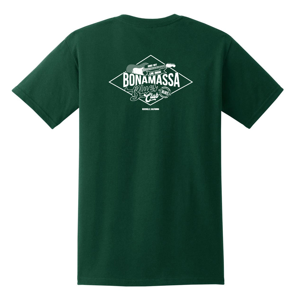 Bonamassa Blues Club Pocket T-Shirt (Unisex) - Forest